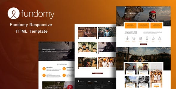 fundomy charity nonprofit ngo fundraising html template