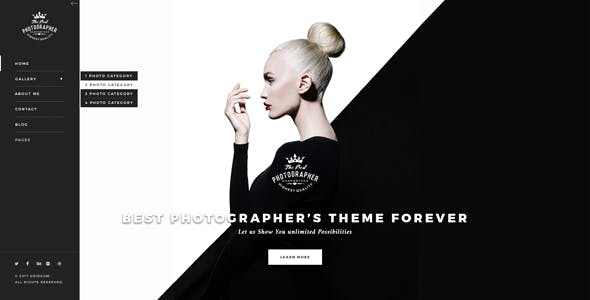 black and white wordpress website templates from themeforest
