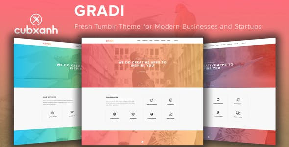 Business blogger templates from themeforest gradi fresh tumblr theme for modern businesses and startups wajeb Choice Image