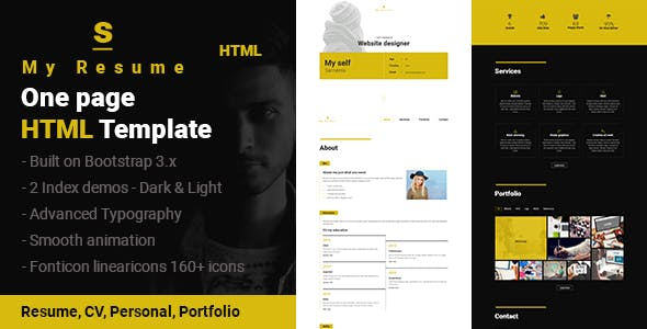 personal html website templates from themeforest page 9