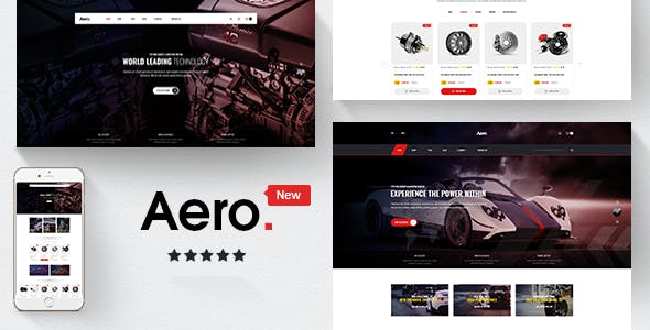 Car Accessories eCommerce Websites and Templates