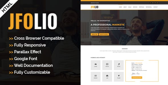 HTML HTML Business Card Website Templates From ThemeForest - Business card website template