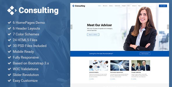 Business broker website templates from themeforest consulting business finance broker advisor accounting html5 template cheaphphosting Gallery