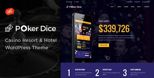 Poker Templates from ThemeForest