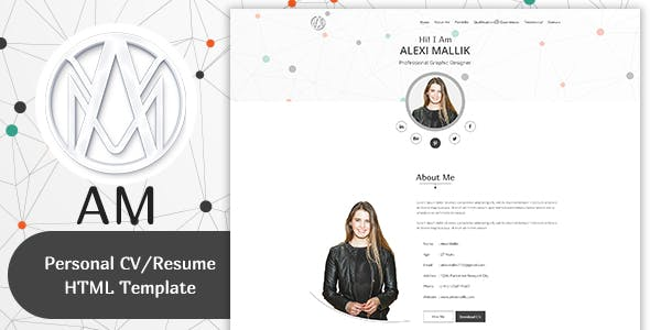 HTML Online CV & Resume Templates from ThemeForest