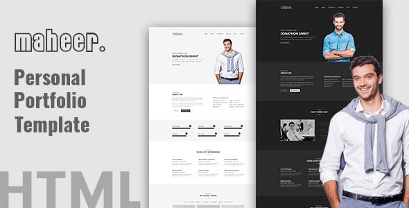 CV Website Templates Compatible With Facebook From ThemeForest