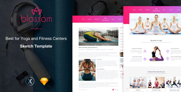 fitness sketch app template from themeforest