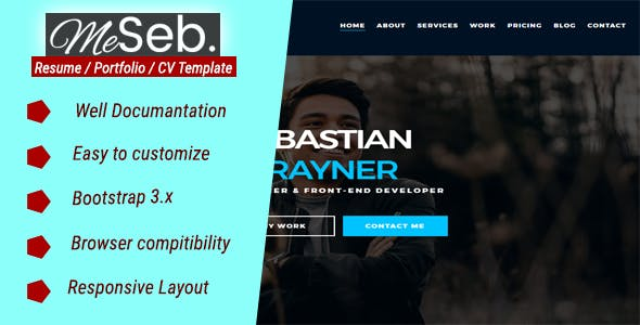Bio Data Templates from ThemeForest