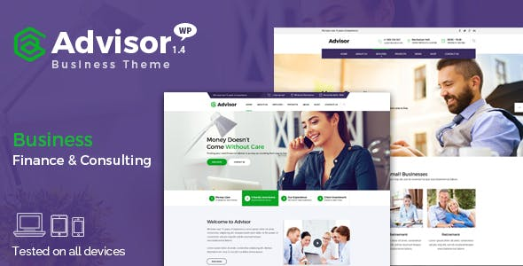 Advisor | Consulting, Business, Finance WordPress Theme
