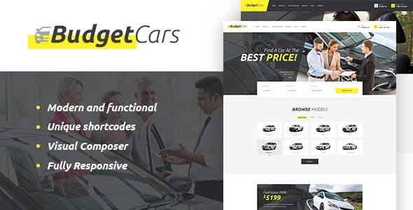 Used Car Dealer Website Templates From ThemeForest
