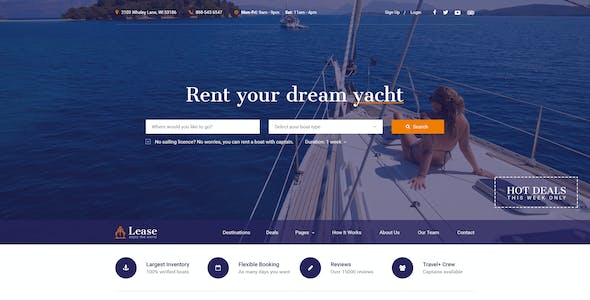 Boat Templates from ThemeForest