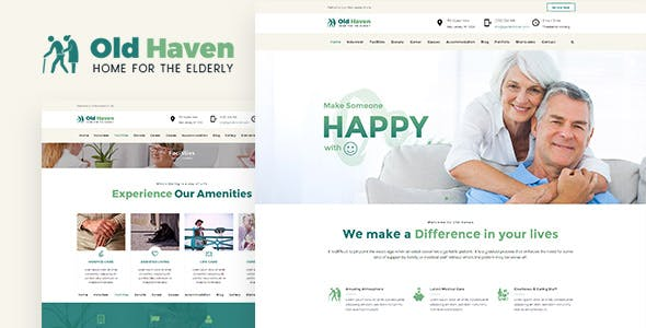Old Haven | Theme for Old Age Home nulled theme download
