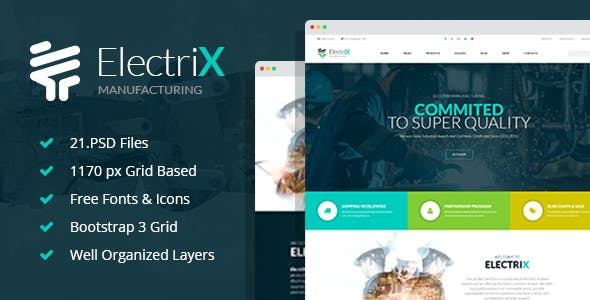 Electrix Website Templates From Themeforest