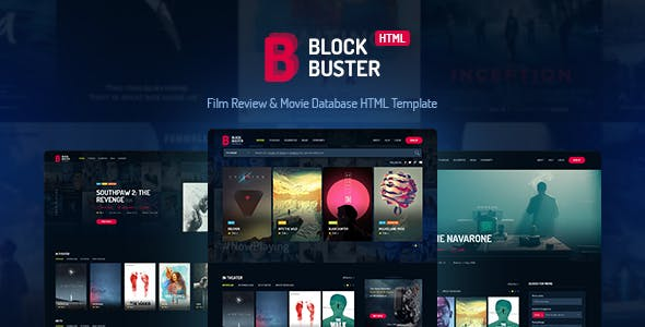 movie database website templates from themeforest