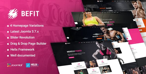 crossfit joomla fitness health beauty templates