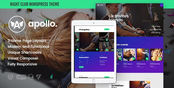 Apollo | Night Club & Event WordPress Theme