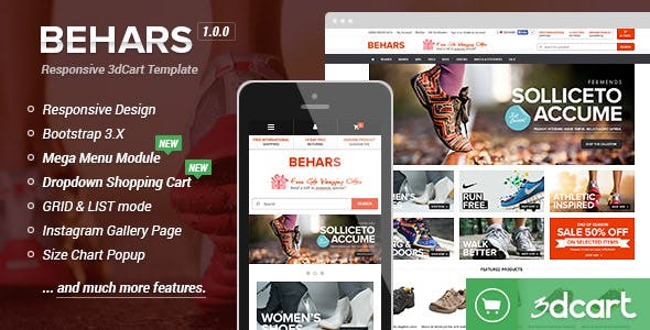 Behars - Responsive 3dCart Template nulled theme download