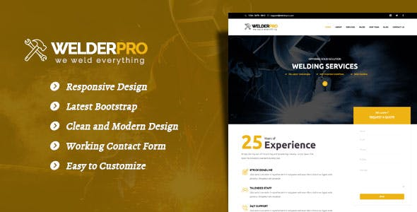 welding templates from themeforest
