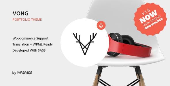 Vong Portfolio - Responsive Portfolio WordPress Theme