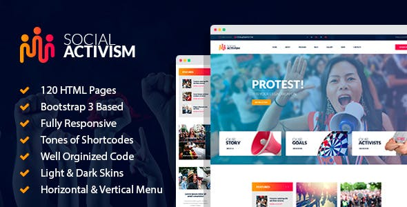 Activism HTML Website Templates from ThemeForest