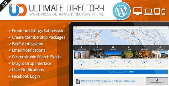 Business listing templates from themeforest ultimate directory responsive wordpress theme wajeb Gallery