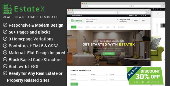 Real Estate Listing Website Templates From Themeforest