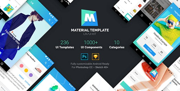 material design ui android template app website templates