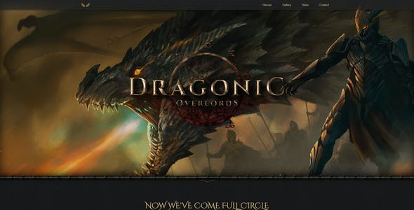 Online Game Templates From ThemeForest