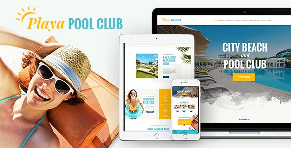 Water park templates from themeforest playa city beach pool club wordpress theme maxwellsz