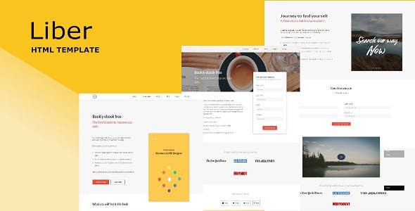Publisher website templates compatible with bootstrap liber ebook landing page solutioingenieria Images