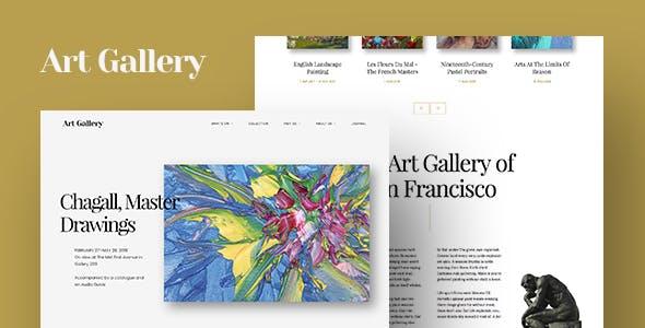 Digital Art Templates From ThemeForest - Art gallery website templates