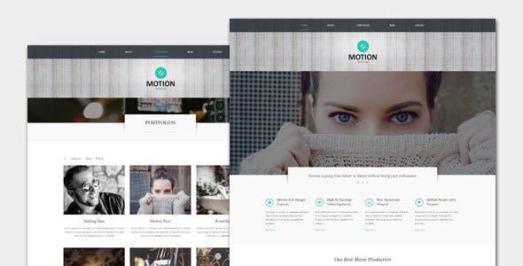 Motion - Film and Movie WordPress Theme