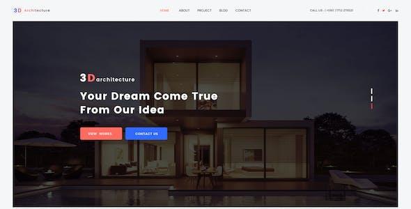 Architecture 3d website templates from themeforest architecture 3d architecturalinterior 3d design studio psd template maxwellsz