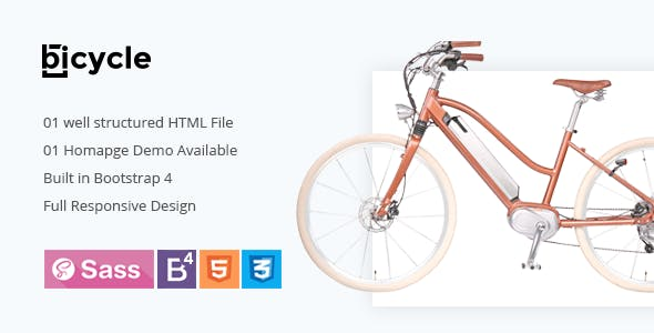 Bike Shop HTML Website Templates from ThemeForest