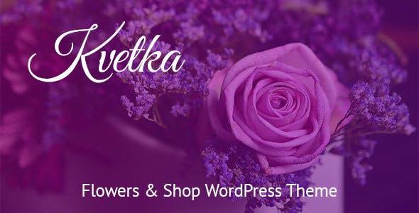 Kvetka - Flowers & Shop WordPress Theme