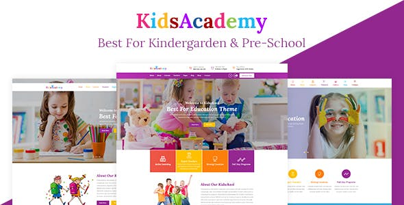 Play school kids html website templates from themeforest kidsacademy kids kindergarten school html template maxwellsz