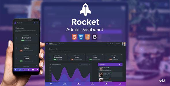 Rocket - Responsive Admin Dashboard by ThemeSonyX | ThemeForest