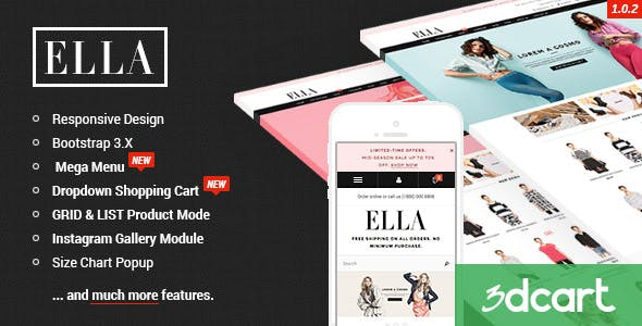 ELLA - Responsive 3dCart Template nulled theme download
