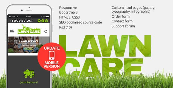 Tree service website templates from themeforest lawn care services html website template saigontimesfo