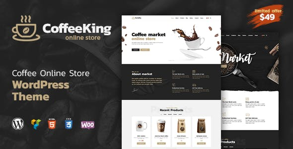 Coffee King House And Online WordPress Theme By Like Themes