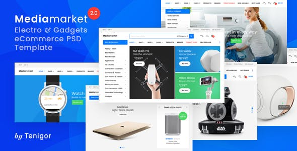 Ionic Store eCommerce Online Store PSD Templates