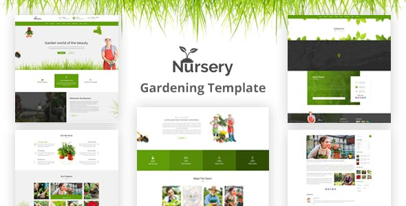 Nursery Gardening And Landscaping Html Template