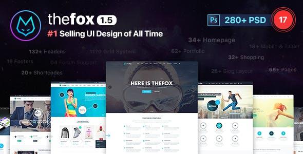Thefox Multi Purpose Psd Template