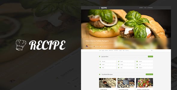 Recipe Website Templates From ThemeForest