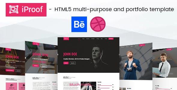 behance html website templates from themeforest
