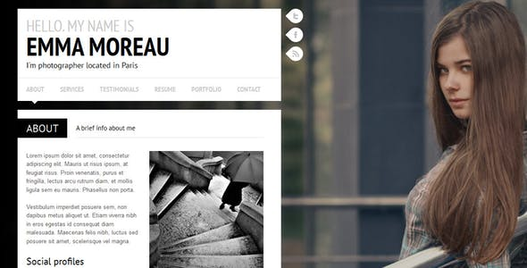slideshow jquery personal html website templates
