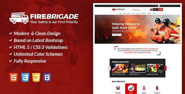 fire department templates from themeforest
