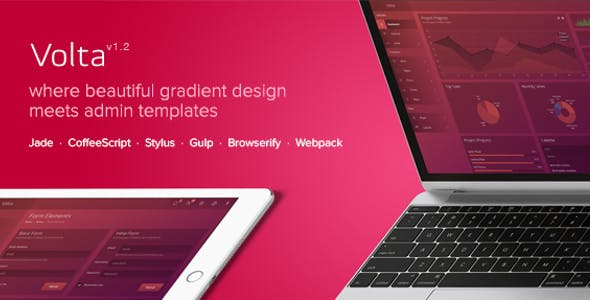 futuristic html admin website template from themeforest