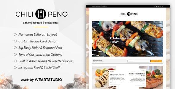 Recipe templates from themeforest chilipeno recipe food wordpress theme forumfinder Gallery