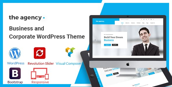 Business wordpress theme templates from themeforest the agency corporate and business wordpress theme cheaphphosting Image collections